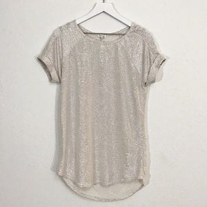 River Island Metallic Silver Tunic